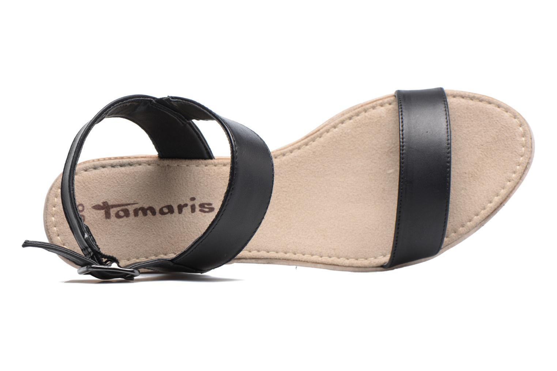 Sandales et nu-pieds Tamaris Khat Noir vue gauche
