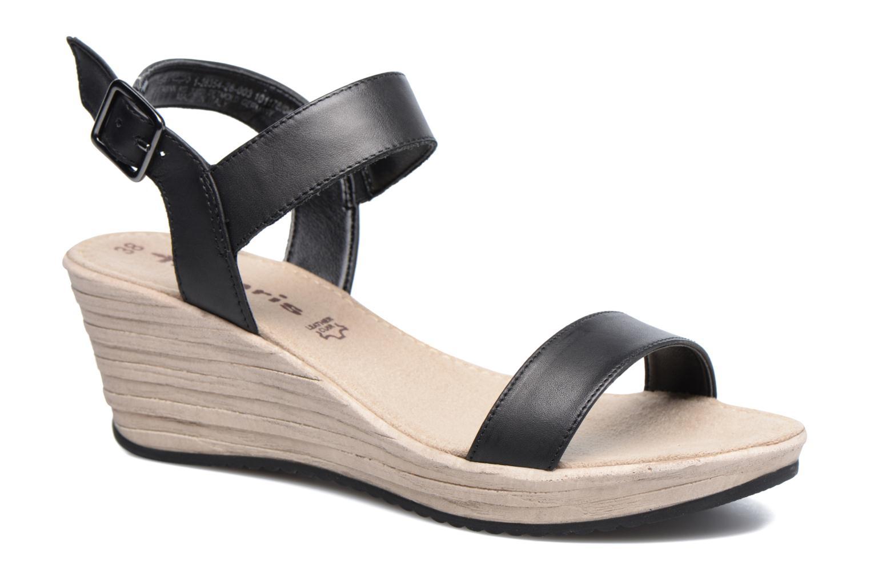 Sandales et nu-pieds Tamaris Khat Noir vue détail/paire