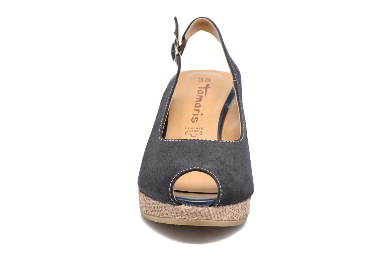Espadrilles Tamaris Ibéris Bleu vue portées chaussures