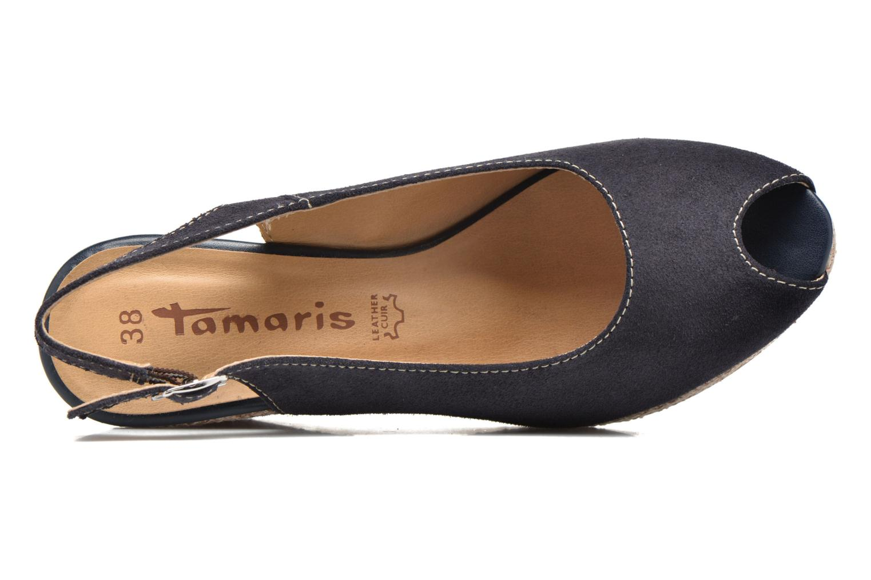 Espadrilles Tamaris Ibéris Bleu vue gauche