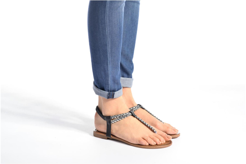 Sandales et nu-pieds Divine Factory Ahvido Noir vue bas / vue portée sac