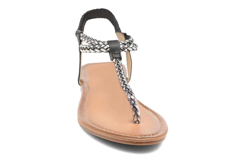 Sandales et nu-pieds Divine Factory Ahvido Noir vue portées chaussures