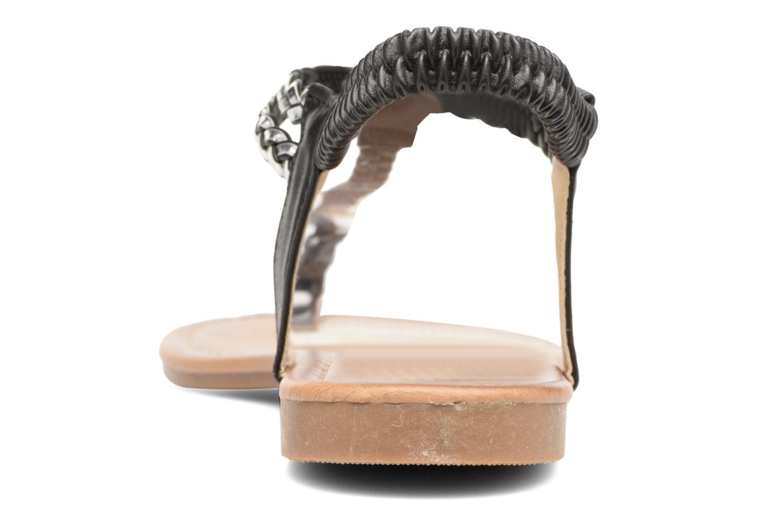 Sandales et nu-pieds Divine Factory Ahvido Noir vue droite