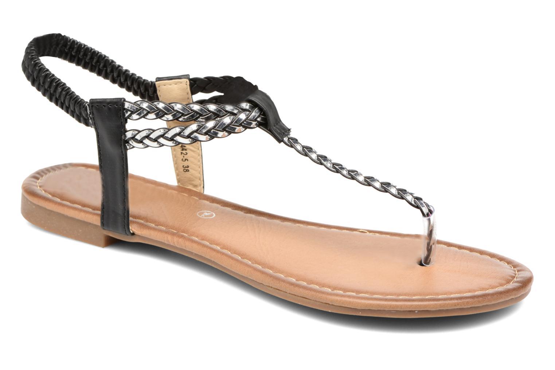 Sandales et nu-pieds Divine Factory Ahvido Noir vue détail/paire