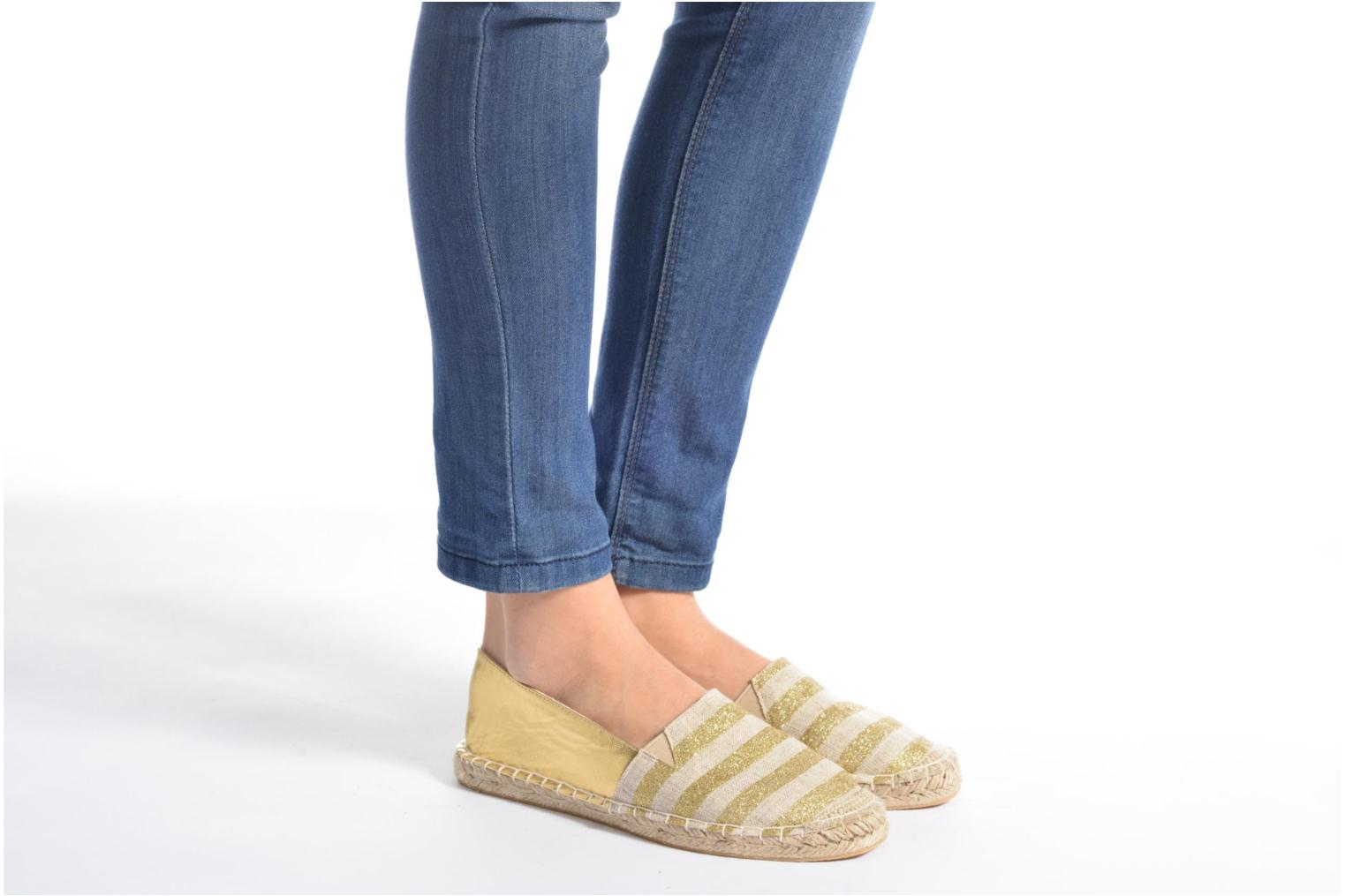 Espadrilles Divine Factory Uny Bronze and Gold view from underneath / model view