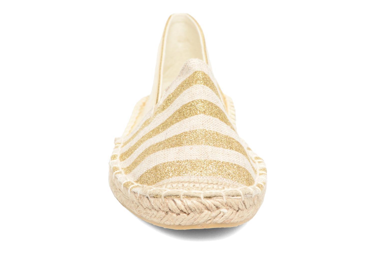 Espadrilles Divine Factory Uny Or et bronze vue portées chaussures
