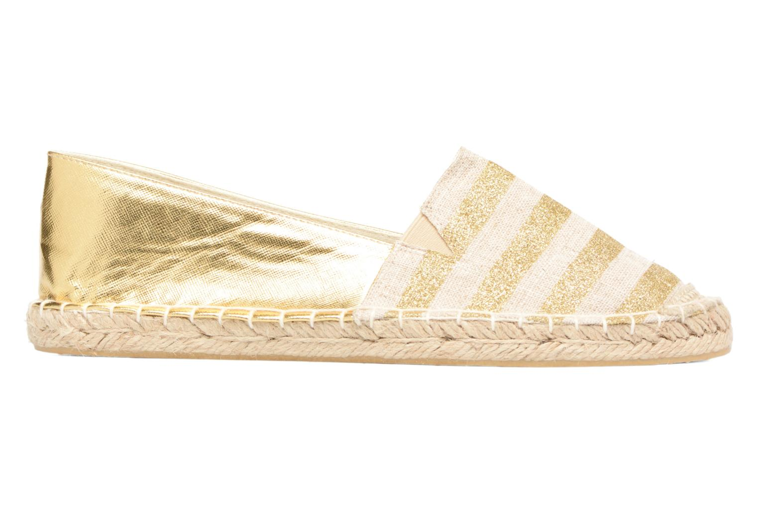 Espadrilles Divine Factory Uny Bronze and Gold back view