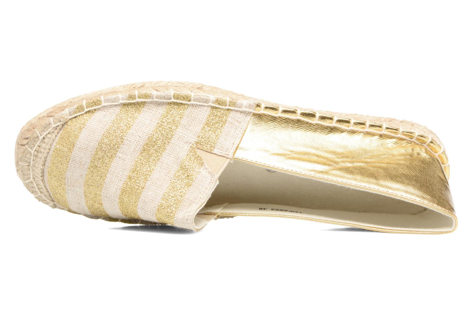 Espadrilles Divine Factory Uny Bronze and Gold view from the left