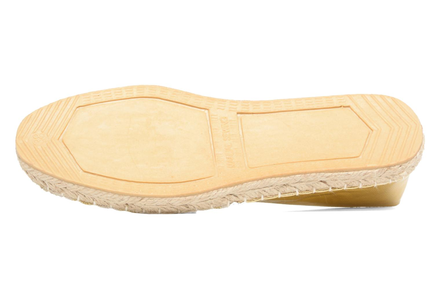 Espadrilles Divine Factory Uny Bronze and Gold view from above