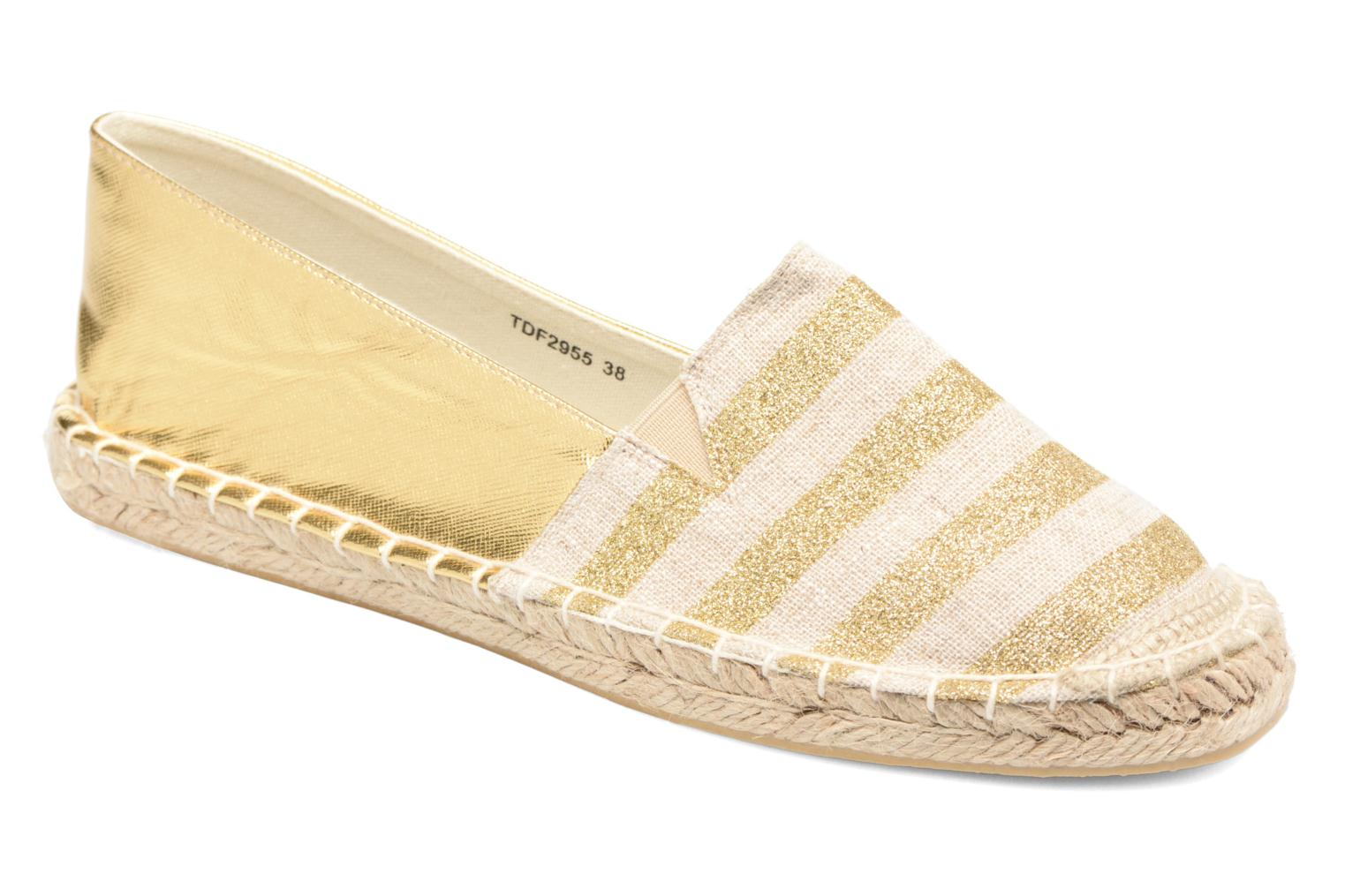Espadrilles Divine Factory Uny Bronze and Gold detailed view/ Pair view