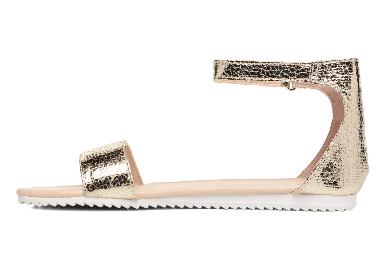 Sandales et nu-pieds Esprit MINA MET SANDAL Or et bronze vue face