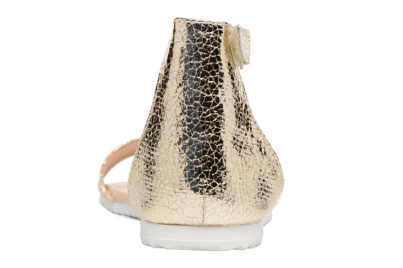 Sandales et nu-pieds Esprit MINA MET SANDAL Or et bronze vue droite
