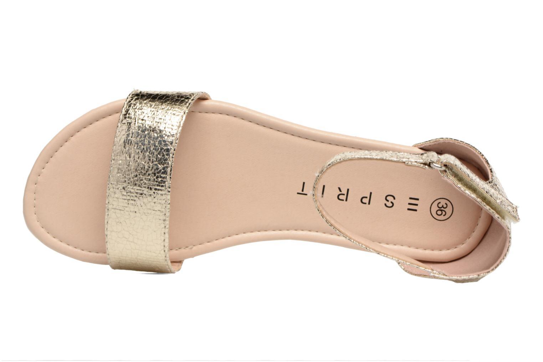 Sandales et nu-pieds Esprit MINA MET SANDAL Or et bronze vue gauche