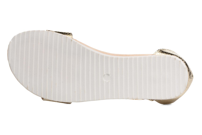 Sandales et nu-pieds Esprit MINA MET SANDAL Or et bronze vue haut