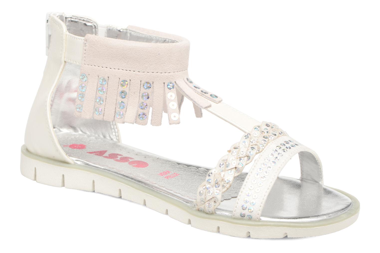 Sandales et nu-pieds ASSO Baccara Blanc vue détail/paire