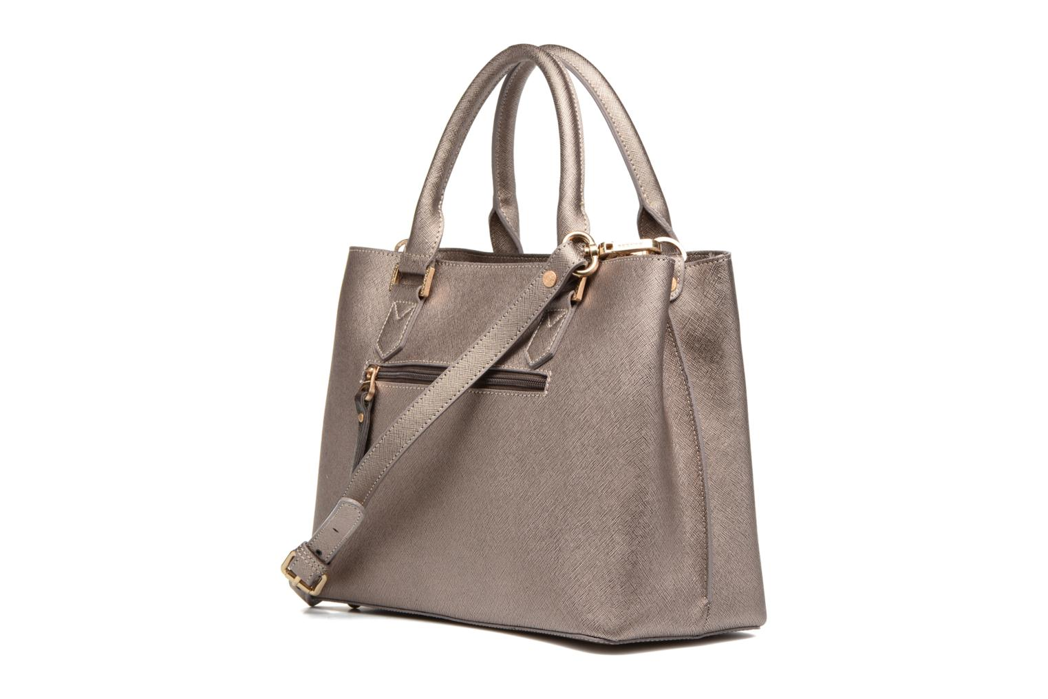 Handbags Sabrina Martina Bronze and Gold view from the right