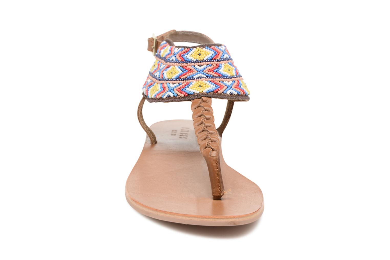 Sandales et nu-pieds Pieces Pscarol Marron vue portées chaussures
