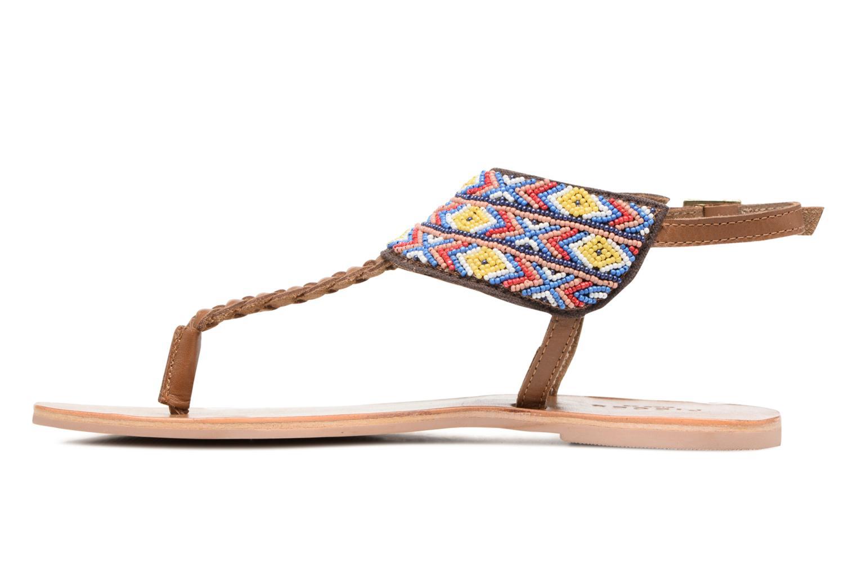 Sandales et nu-pieds Pieces Pscarol Marron vue face