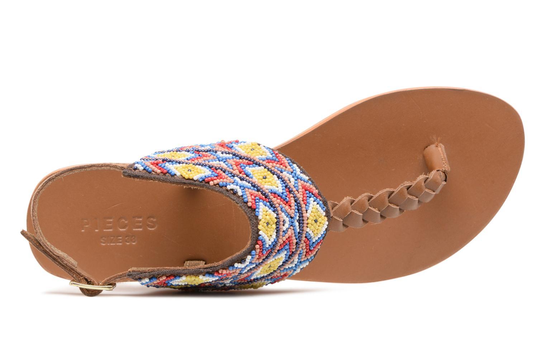 Sandales et nu-pieds Pieces Pscarol Marron vue gauche