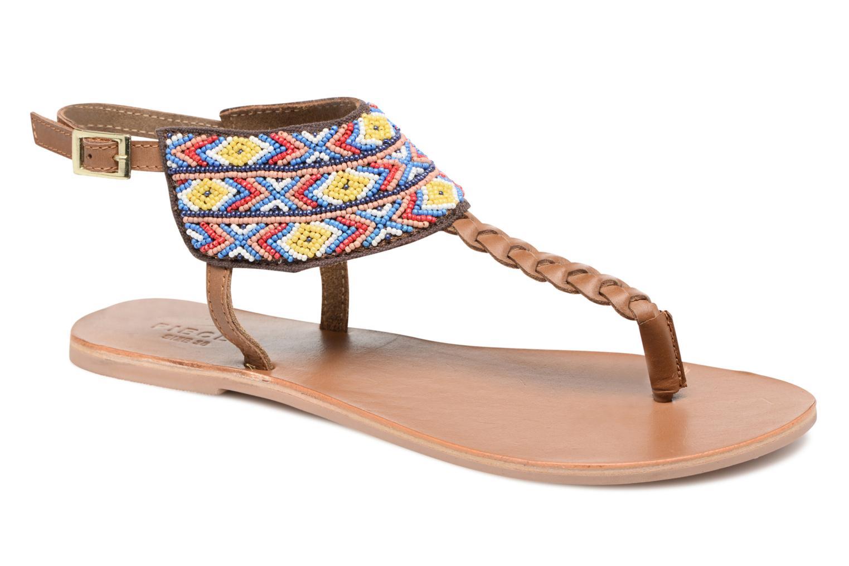 Sandales et nu-pieds Pieces Pscarol Marron vue détail/paire