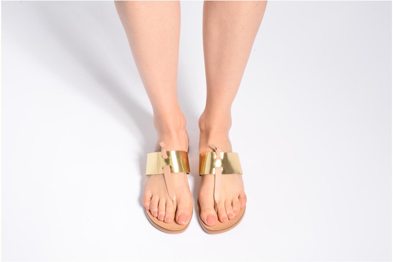 Sandales et nu-pieds Pieces Pscallie Or et bronze vue bas / vue portée sac