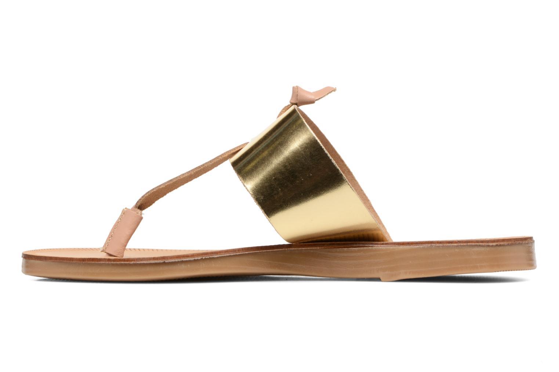 Sandales et nu-pieds Pieces Pscallie Or et bronze vue face