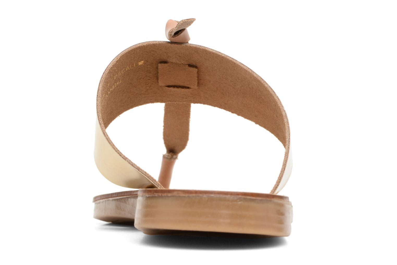 Sandales et nu-pieds Pieces Pscallie Or et bronze vue droite