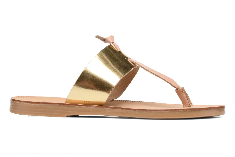 Sandales et nu-pieds Pieces Pscallie Or et bronze vue derrière