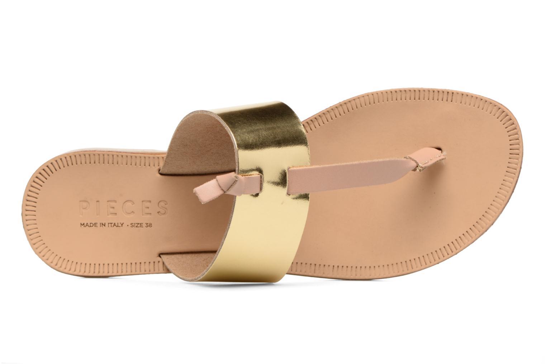 Sandales et nu-pieds Pieces Pscallie Or et bronze vue gauche