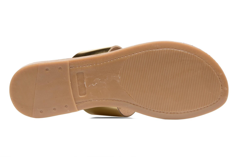 Sandales et nu-pieds Pieces Pscallie Or et bronze vue haut