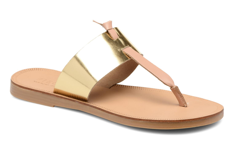 Sandales et nu-pieds Pieces Pscallie Or et bronze vue détail/paire