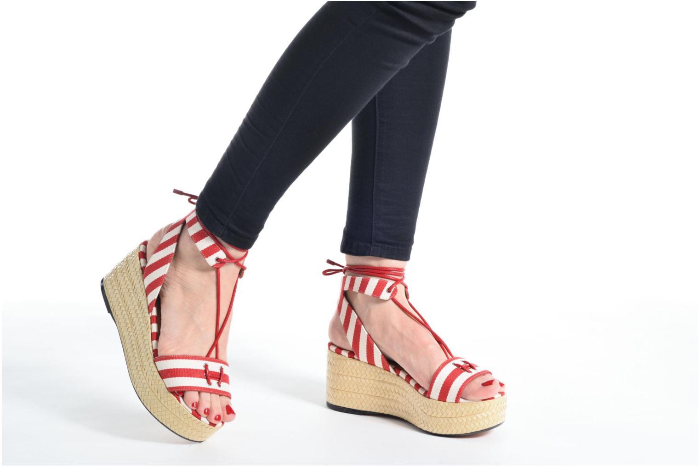 Sandales et nu-pieds Sonia Rykiel Sandale Plateau Rouge vue bas / vue portée sac