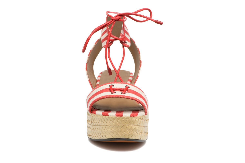 Sandales et nu-pieds Sonia Rykiel Sandale Plateau Rouge vue portées chaussures