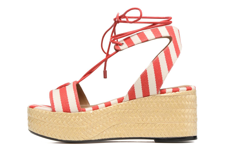 Sandales et nu-pieds Sonia Rykiel Sandale Plateau Rouge vue face