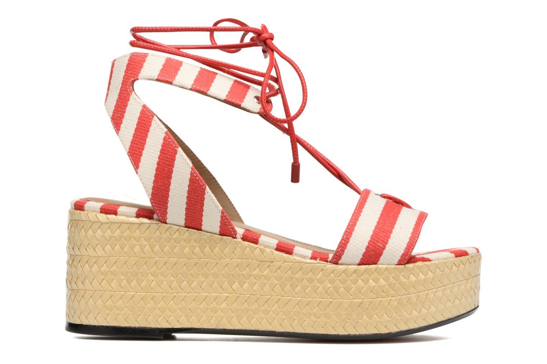 Sandales et nu-pieds Sonia Rykiel Sandale Plateau Rouge vue derrière