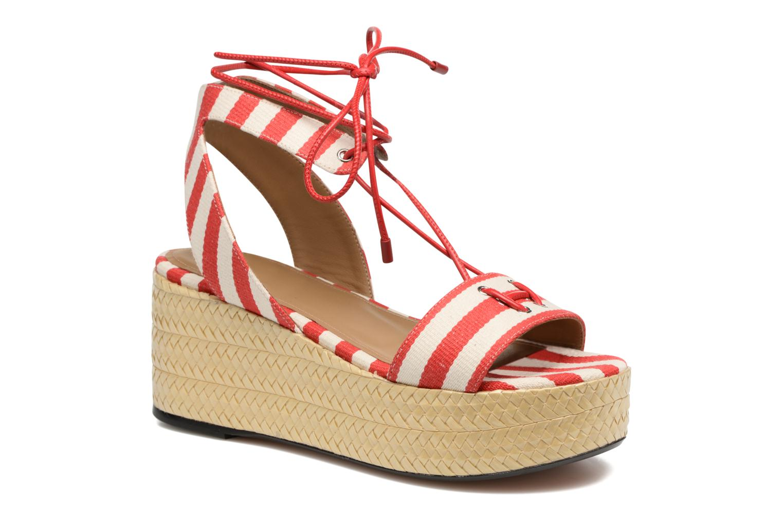 Sandales et nu-pieds Sonia Rykiel Sandale Plateau Rouge vue détail/paire