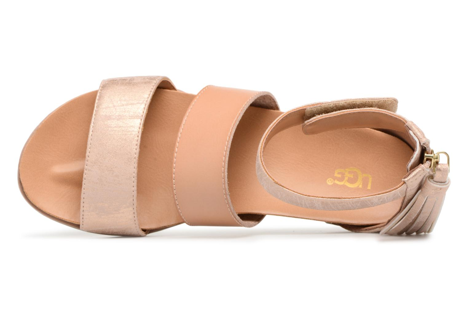 Sandalen UGG Marabel Metallic Zilver links