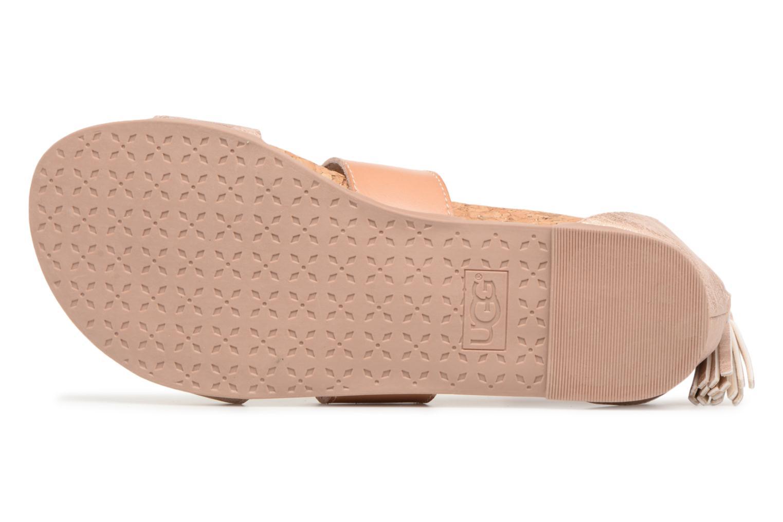 Sandalen UGG Marabel Metallic silber ansicht von oben