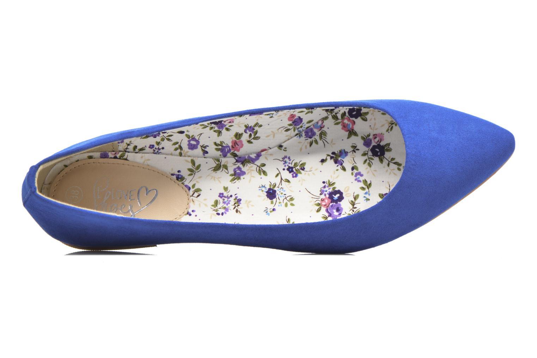 Bailarinas I Love Shoes BLOWN Azul vista de arriba