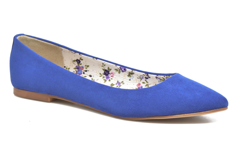 Ballerinaer I Love Shoes BLOWN Blå detaljeret billede af skoene