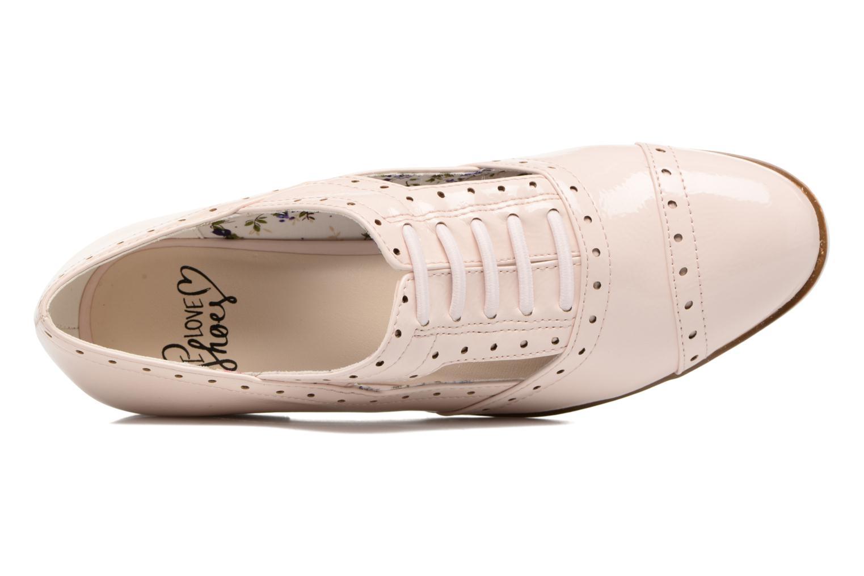 Zapatos con cordones I Love Shoes BLEST Beige vista lateral izquierda