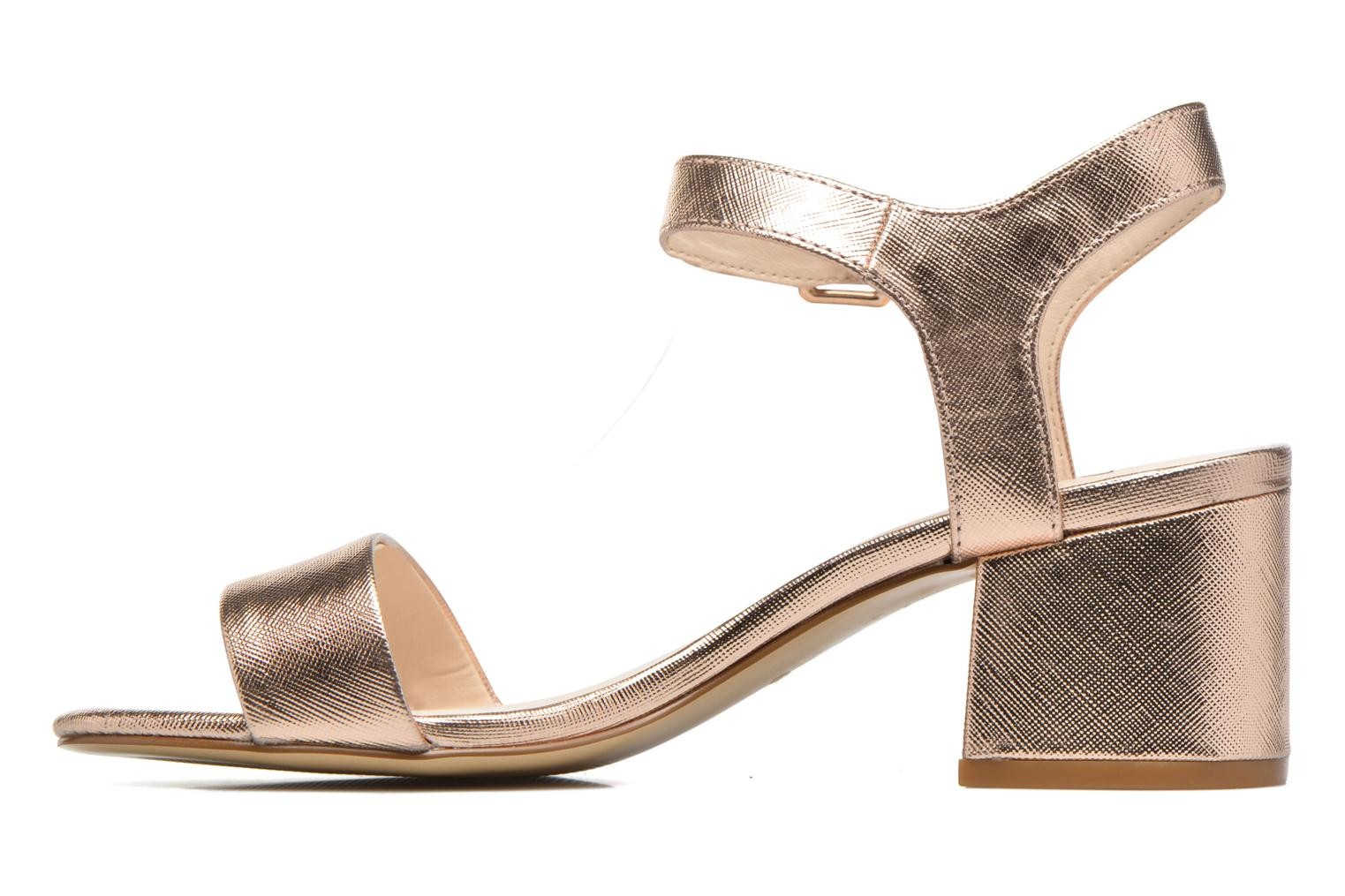 Sandals I Love Shoes BLEUR Bronze and Gold front view