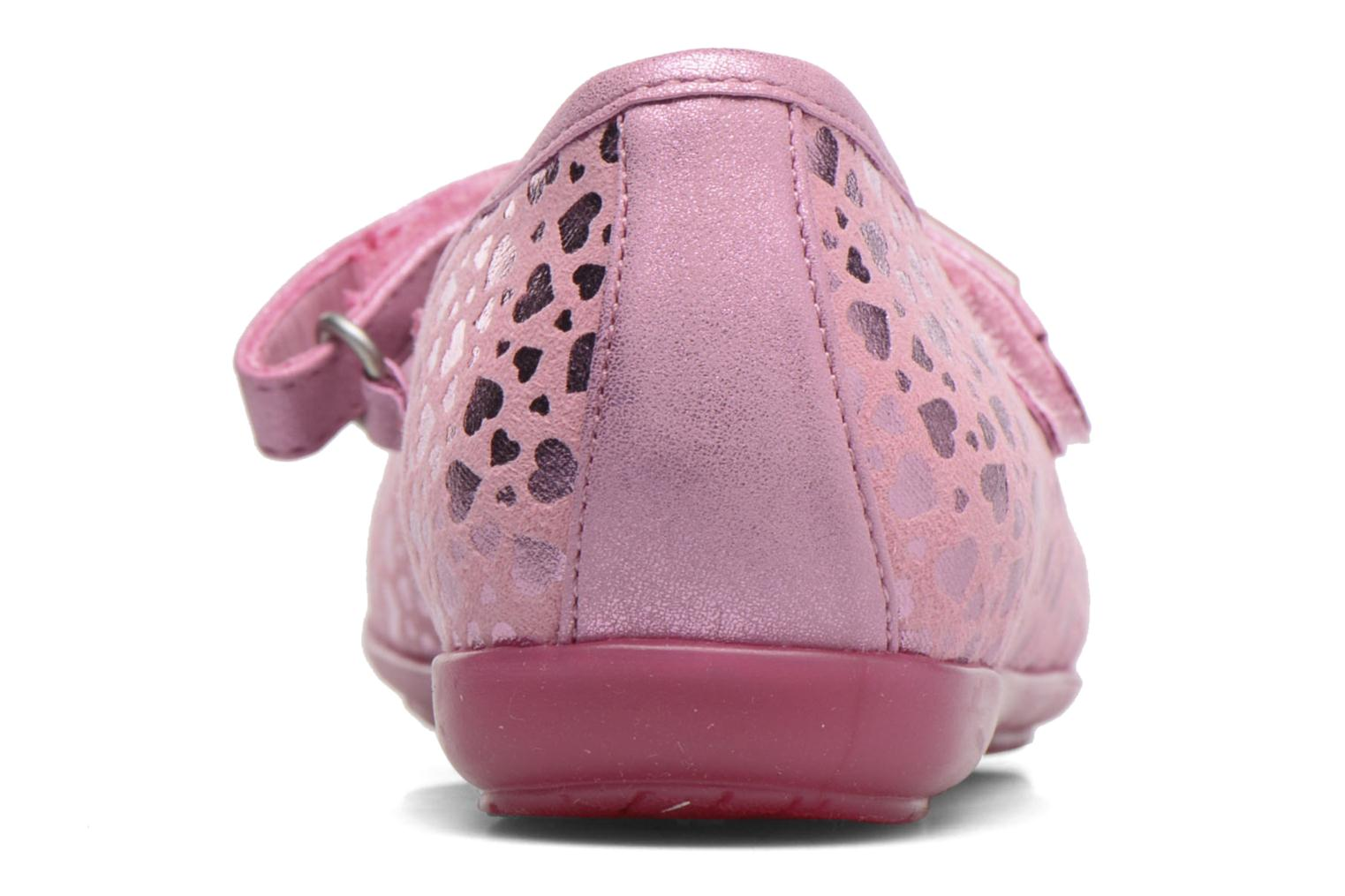 Ballet pumps Agatha Ruiz de la Prada Glow Pink view from the right