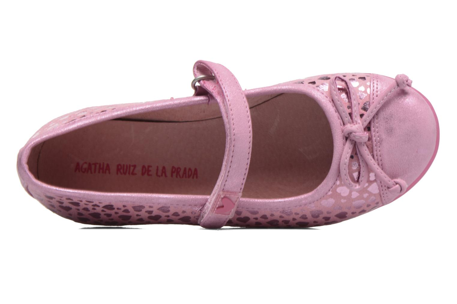 Ballet pumps Agatha Ruiz de la Prada Glow Pink view from the left