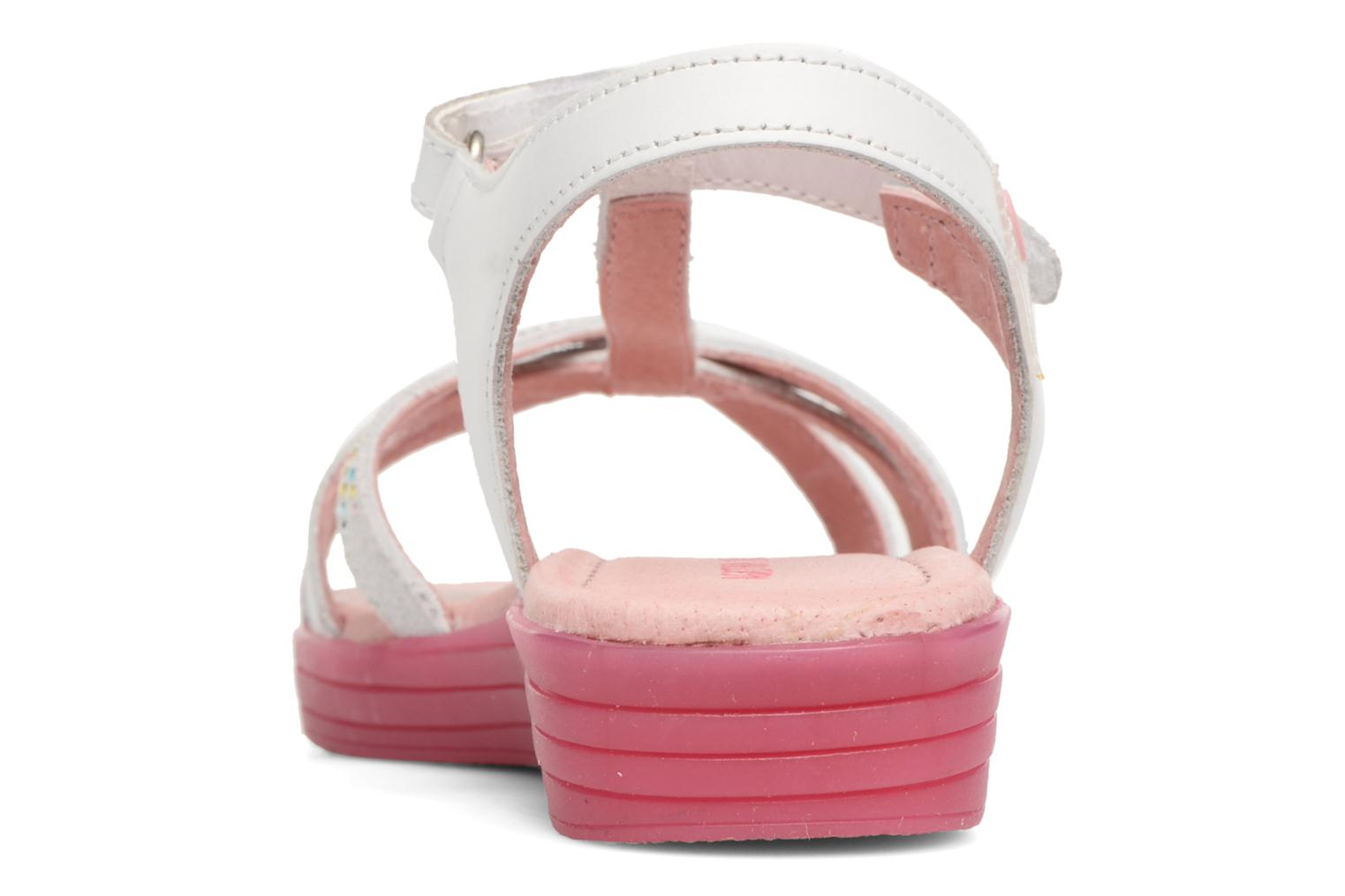 Sandals Agatha Ruiz de la Prada Diva 2 White view from the right