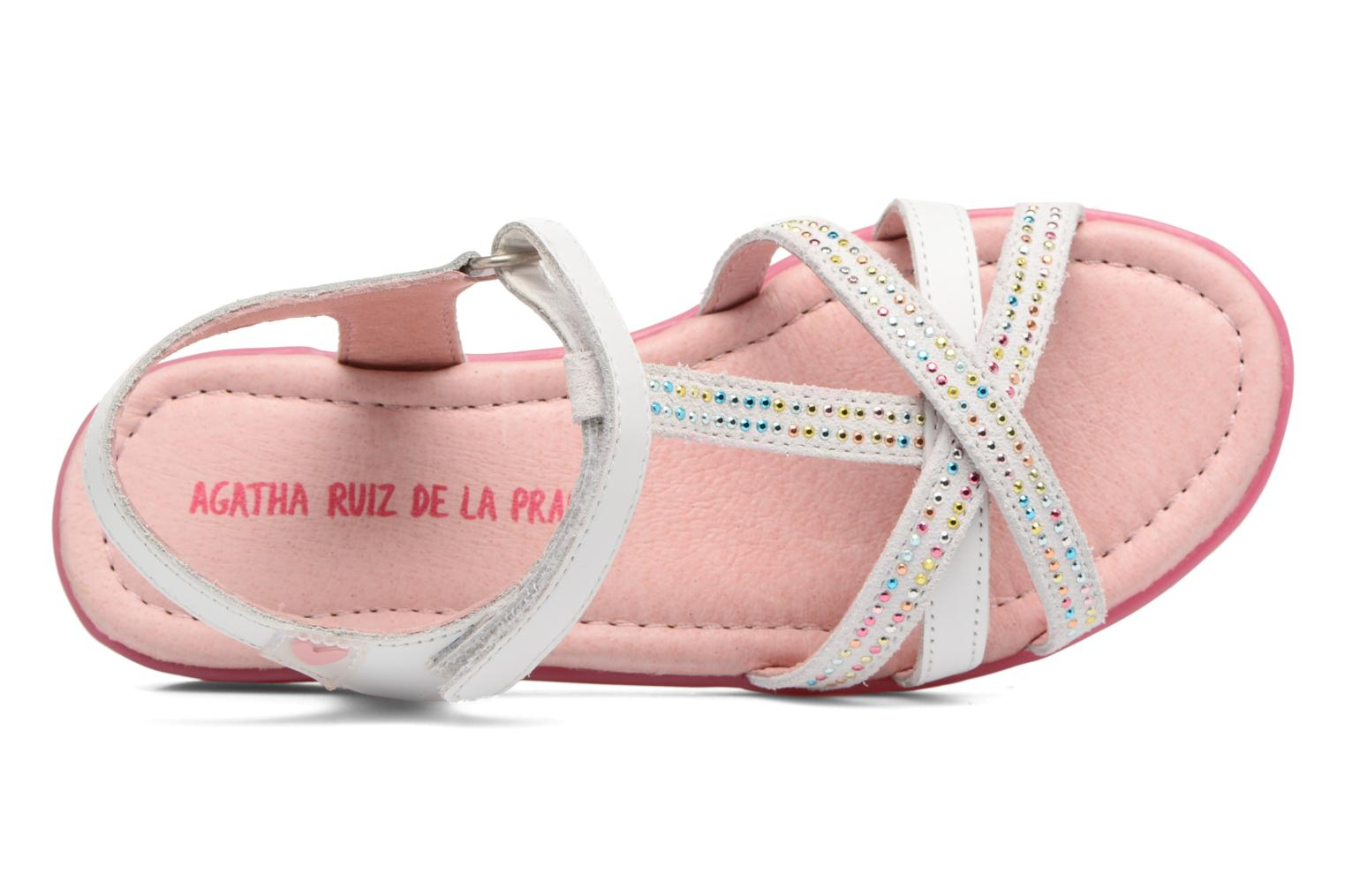Sandals Agatha Ruiz de la Prada Diva 2 White view from the left