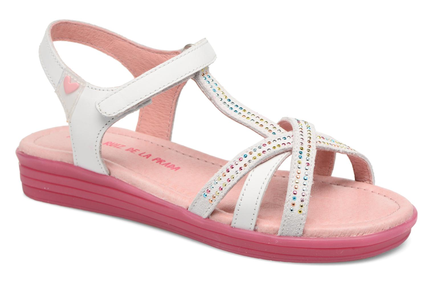 Sandals Agatha Ruiz de la Prada Diva 2 White detailed view/ Pair view