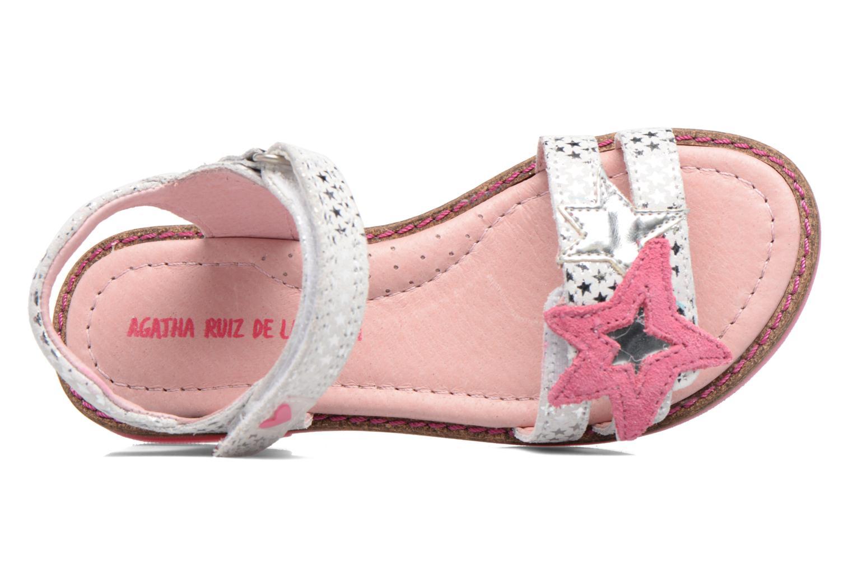 Sandali e scarpe aperte Agatha Ruiz de la Prada Miss Ponza 2 Bianco immagine sinistra