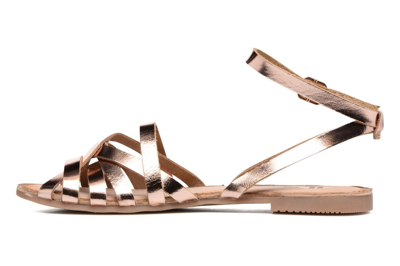 Sandales et nu-pieds Gioseppo Lena Or et bronze vue face