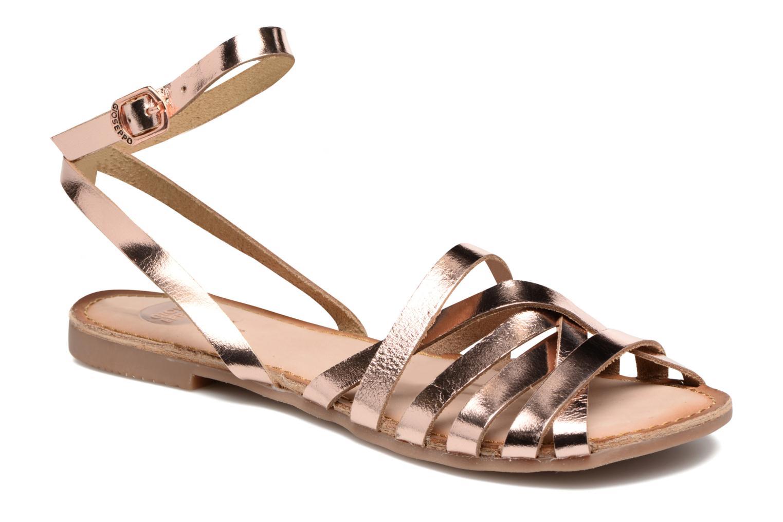 Sandales et nu-pieds Gioseppo Lena Or et bronze vue détail/paire